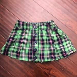 Plaid skirt with built in shirts